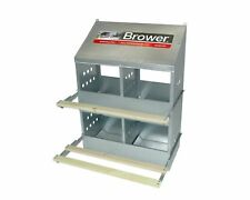 4-Hole  Brower  Galvanized Metal Chicken Nesting Box Hinged Perches MADE IN USA