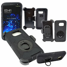 Heavy Duty Rugged Hard Case Cover & Belt Clip Holster For Samsung Galaxy S6 Edge
