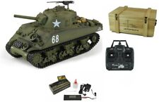 RC Panzer U.S. M4A3 Sherman 1:16 Standard Line IR + BB mit Holzkiste