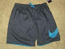 NIKE Navy French Blue Swim Trunks Board Shorts  w/ Swoosh - XXL - NWT