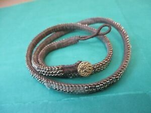 Love Heals Wrap Bracelet Metal/Glass Beads Brown Leather Tree of Life Button