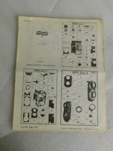 vtg CAMERA PARTS LIST f Rolleicord Rollleiflex Minolta - nat Repair School 1950s