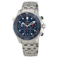 Omega Seamaster 300 Diver Blue Dial Stainless Steel Mens Watch