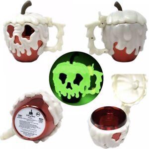 Disney Parks Red Poison Apple Glow In The Dark Stein Mug Cup Snow White 2021 NEW