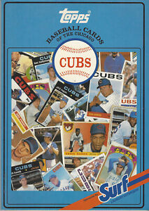 1987 Surf Topps Baseball Card Book Chicago Cubs 1952-1986