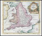 1764 - Map of ENGLAND AND WALES with part Ireland by Thomas Jefferys (KWM16)