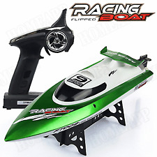 FT009 RC Boat 2.4G 4CH Water Cooling 30km/h High Speed Racing Green