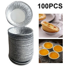 100x Aluminum for Egg Tart Mold Reusable Baking Cup Cupcake Cookie Bakeware