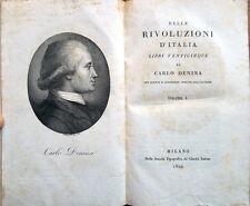 1820 – DENINA, DELLE RIVOLUZIONI D'ITALIA – STORIA ITALIANA ROMANA ETRUSCHI ROMA
