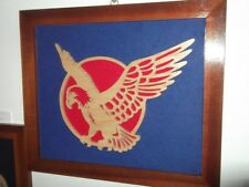 Large Fretwork Picture Eagle