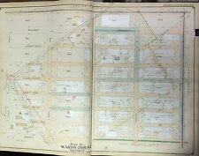 ORIGINAL 1906 E. BELCHER HYDE BROOKLYN NY EAST FLATBUSH NYC MAP ATLAS - 27x36
