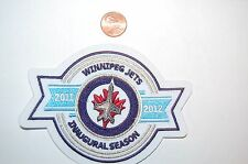 "Winnipeg Jets 4 1/2"" 2011/2012 Inaugural Season Logo Patch Hockey"