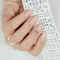 1PC Letter Nail Art Water Decals Manicure Transfer Stickers DIY Accessories