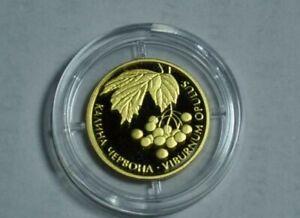 Ukraine , 2 UAH 2010, Gold coin: KALINA RED