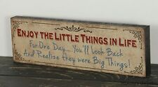 PRIMITIVE COUNTRY WOOD FAMILY BLOCK SIGN HANDMADE INSPIRATIONAL HOME DECOR 1203
