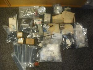 LARGE LOT  OF ELECTRONIC COMPONENTS MIL HARDWARE & MORE-NOS