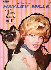 Vintage Uncut 1960'S Hayley Mills That Darn Cat Paper Dolls~#1 Reproduction~Rare