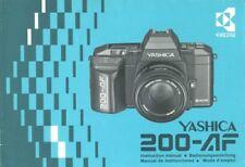 Yashica 200-AF Instruction Manual multi language