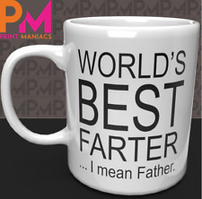Worlds best farter I mean father 11oz ceramic mug fathers day dad daddy xmas