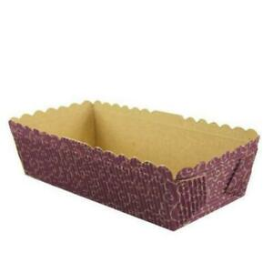 Fox Run Paper Bakeware, Japanese Small Rectangular Loaf Pan, Set of 6
