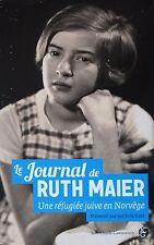 le journal de Ruth Maier   une réfugiée juive en Norvège Maier  Ruth Occasion