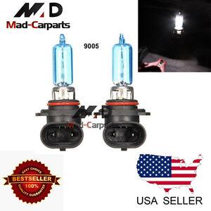 9005 100w Halogen Xenon Headlight Replacement 2x Light Bulb Lamp 6000K White