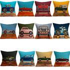 """17"""" Cute Home Sofa Car Decor Linen Throw Pillow Case Square Waist Cushion Cover"""