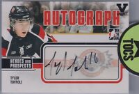 Tyler Toffoli 2009-10 ITG Heroes & Prospects Autograph Pre-RC Vault Canucks
