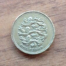 THREE LIONS £1 ROUND ONE POUND COIN - PASSANT GUARDANT REPRESENTING ENGLAND 2002