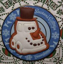 Disney Cars Snowman Gingerbread 2017 Christmas Seasons Eatings Xmas LE 3000 Pin
