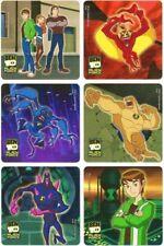 6 x Square Stickers ~ Ben 10 Ten Alien Spidermonkey Chromastone Cartoon Show ~
