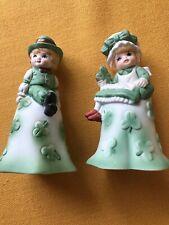 St. Patricks Ceramic Bells Boy Girl shamrocks (2)