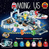 6Pcs/set Among US game Model Building blocks toys minifigure space alien figures