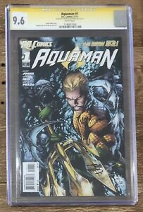 DC Comics Aquaman (2011) #1 CGC 9.6 SS - Reis & Prado Dual Signed