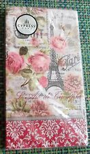 Cypress Home 15 Guest Napkins - SWEET PARIS Pics of the Eiffel Tower & More NEW