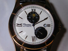 New Rousseau Rose Gold Men's Watch with Date, Moon Phase and Power Meter L@@K!