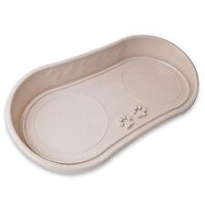 Dog Cat Bowl Tray Pet Plastic Paw Design No Mess