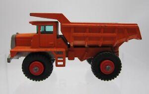 Vtg 1960s Matchbox Lesney #28 Mack Dump Truck Orange Red Hubs Construction
