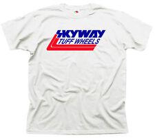 Retro Skyway Tuff Wheels BMX Bandit Tshirt,Mens 80's TShirt,Haro,Recreation Wht