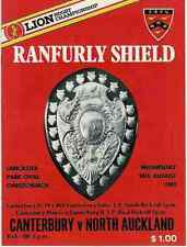 Canterbury v North Auckland 10 Aug 1983 Ranfurly Shield, NZ Rugby Programme