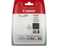 Canon CLI 551 Multipack NEU & ORIGINAL CLI-551bk, CLI-551C, CLI-551M, CLI-551Y