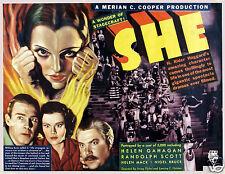 Ella 1935 Art 10x8 película antigua reproducción impresa de una Película Vintage Póster