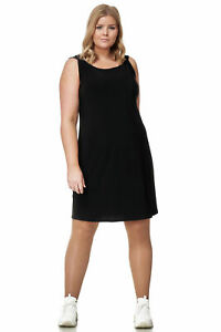 Magna Lagenlook Designer Mini Kleid Tunika Longshirt Sommer Top Oberteil Schwarz