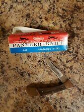 Vintage Panther Bantam Compass Industries Japan 538 Folding Pocket Knife w/ box