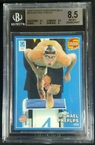 2004 Stadion Czech #659 Michael Phelps Card BGS 8.5 NM-MT+ USA Olympic GOAT!