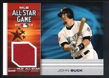 JOHN BUCK 2010 TOPPS ALL STAR STITCHES RELIC GAME USED JERSEY SP $20