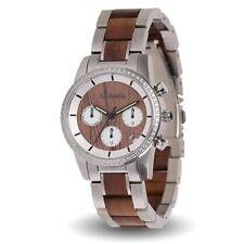 LAiMER Damen Wallnuss Holz Armbanduhr Chronograph - 0134 Kim