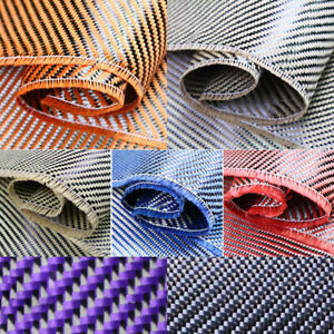 Aramid Carbon Fiber Blended Fabric Cloth Red/Yellow/Blue/Green/Purple/Grey Black