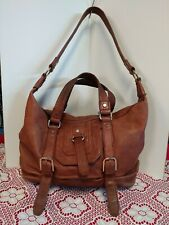 The Sak Leather Tan  Handbag Hobo Shoulder Strap Two Handles  Pre-owned
