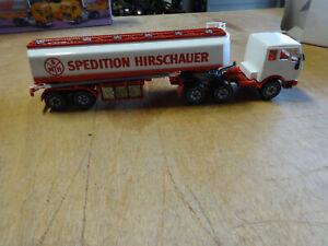 SIKU V288 Mercedes Tanklaster mit Schläuchen Werbemodell Hirschauer NAGELNEU